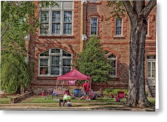 Alabama Crimson Tide Greeting Cards - Tailgating at the University of Alabama Greeting Card by Mountain Dreams