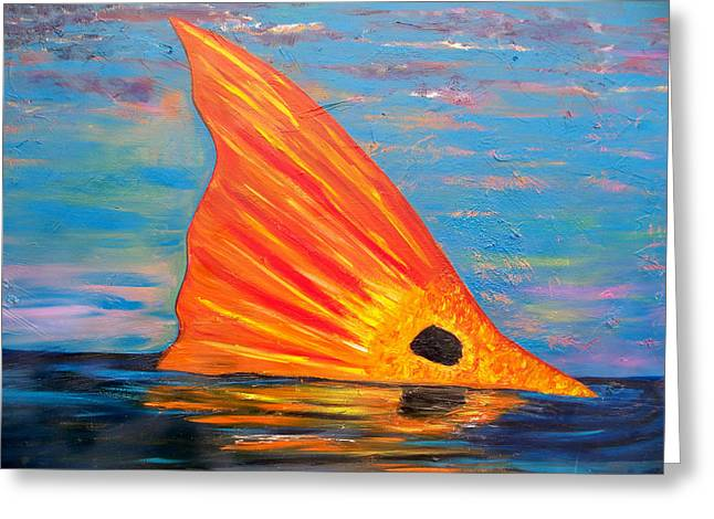 Galveston Paintings Greeting Cards - Tailing Redfish Greeting Card by Tracey Bautista