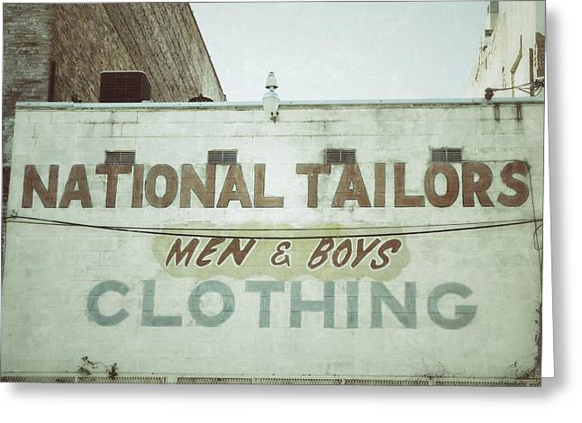 Ghost Signs Greeting Cards - Tailors Greeting Card by Brandon Addis