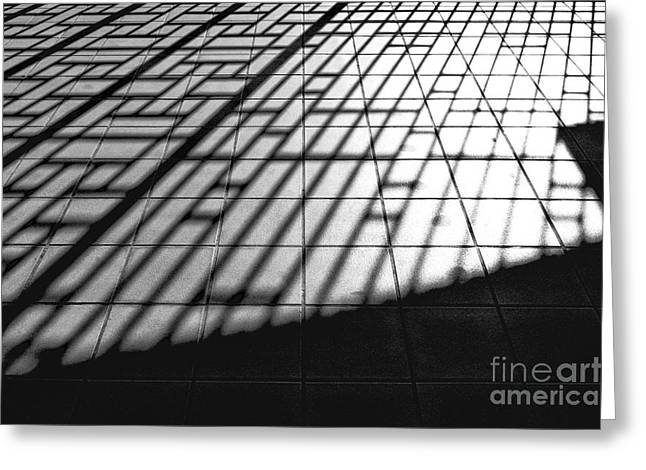 Shadowplay Greeting Cards - Taipei Railway Station Greeting Card by Dean Harte