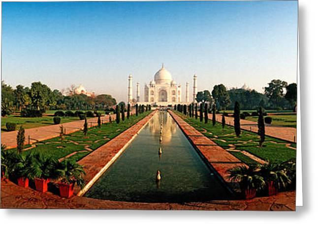 Mausoleum Greeting Cards - Taj Mahal, Agra, Uttar Pradesh, India Greeting Card by Panoramic Images