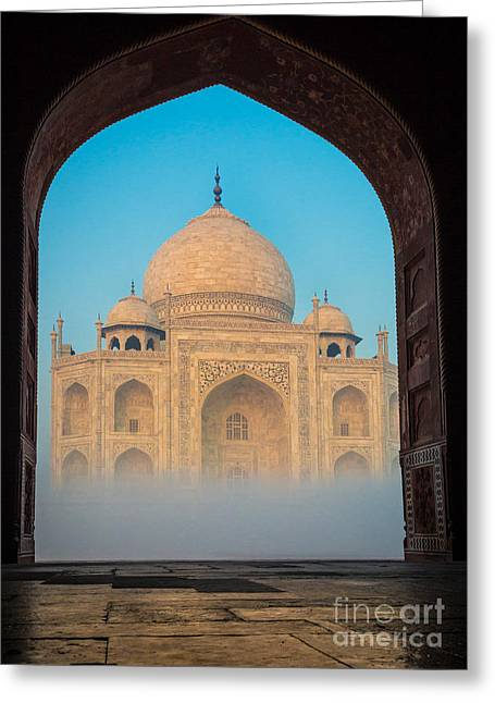 Dome Greeting Cards - Taj Mahal from Jawab Greeting Card by Inge Johnsson