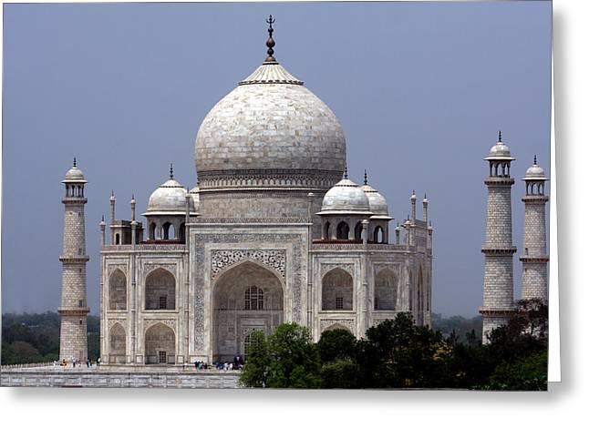 White Marble Greeting Cards - Taj Mahal - Agra - India  Greeting Card by Aidan Moran