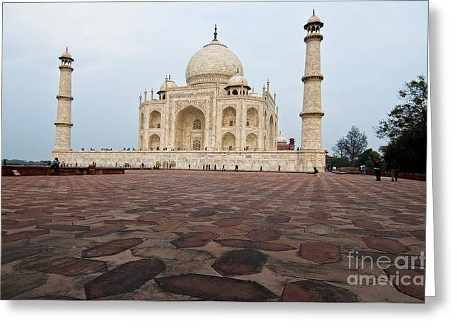 World Destination Greeting Cards - Taj Mahal On The Western Side Greeting Card by William H. Mullins