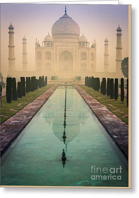 Taj Mahal Predawn Greeting Card by Inge Johnsson