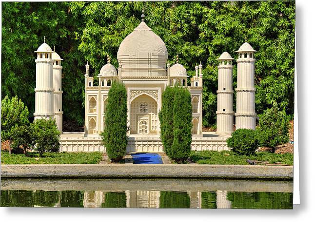 Taj Mahal Greeting Card by Ricky Barnard
