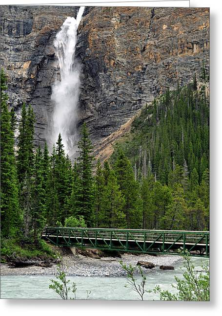 Www.lisaphillipsphotography.com Greeting Cards - Takakkaw Falls Greeting Card by Lisa  Phillips