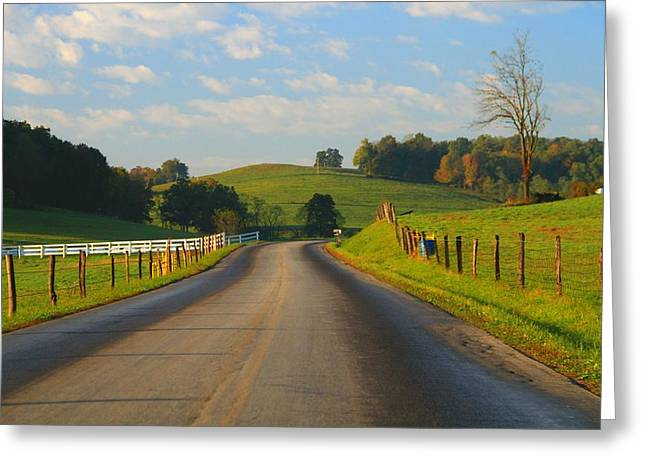 Old Country Roads Greeting Cards - Take A Back Road Greeting Card by Dan Sproul
