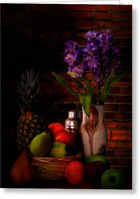Purple Orchids Greeting Cards - Take A Break Greeting Card by Lourry Legarde