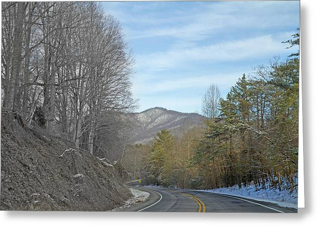 Snow-covered Landscape Photographs Greeting Cards - Take a Chance with Travel Greeting Card by Betsy C  Knapp