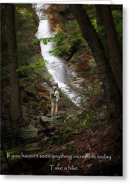 Western Massachusetts Greeting Cards - Take a Hike Greeting Card by Bill  Wakeley