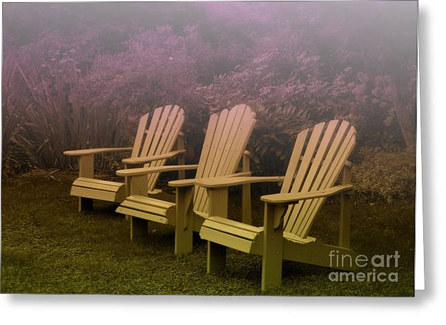 Lawn Chair Greeting Cards - Take a Load Off Greeting Card by Andrea Kollo