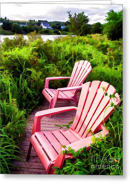 Seated Greeting Cards - Take a load off Greeting Card by Edward Fielding