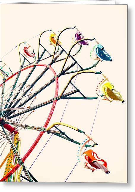 Carnival Art Greeting Cards - Take A Ride Greeting Card by Kim Fearheiley