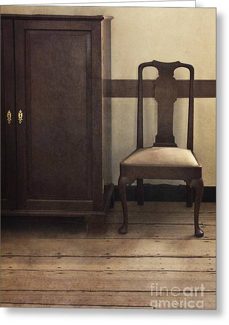 Floorboards Greeting Cards - Take A Seat Greeting Card by Margie Hurwich