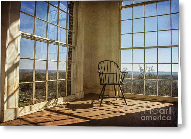 Monticello Greeting Cards - Take a Seat Greeting Card by Terry Rowe
