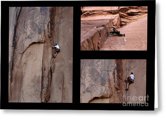 Climbing In Greeting Cards - Take Action No Caption Greeting Card by Bob Christopher