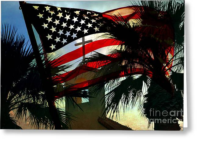 4th July Digital Art Greeting Cards - Take Back America Greeting Card by Beverly Guilliams