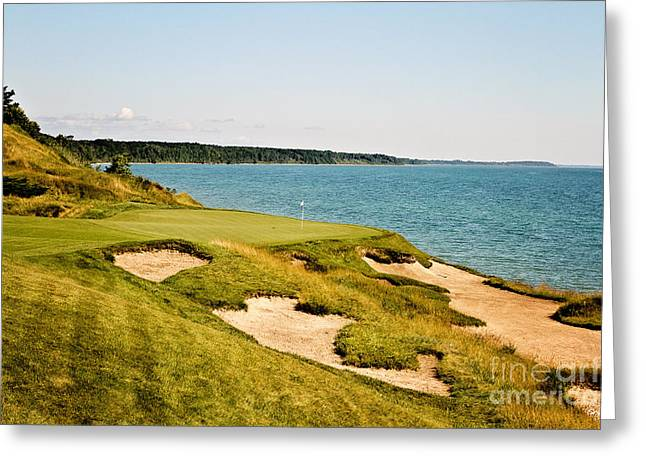 Wisconsin Golf Greeting Cards - Take Dead Aim Greeting Card by Scott Pellegrin