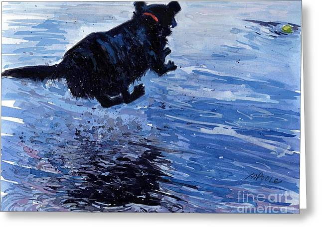 Labrador Retriever Greeting Cards - Take Flight Greeting Card by Molly Poole