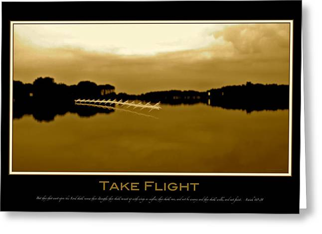 Patrick Greeting Cards - Take Flight with verse Greeting Card by Patrick