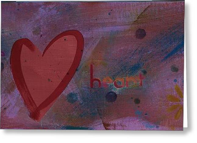 Religious Paintings Greeting Cards - Take Heart Greeting Card by Denise Brown