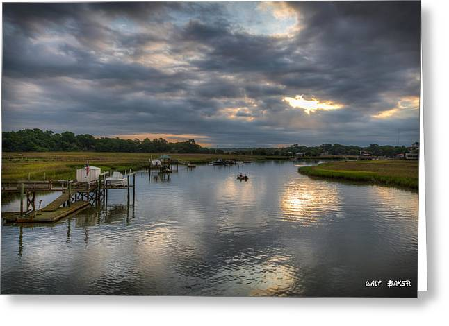 Fishing Creek Greeting Cards - Take Him Fishin Greeting Card by Walt  Baker