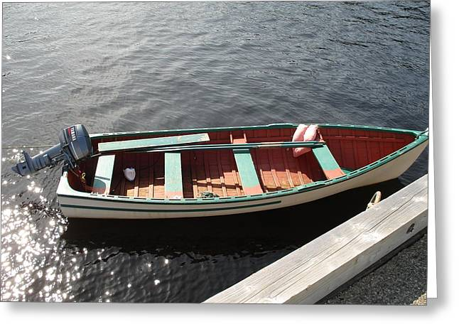Boats At Dock Greeting Cards - Take Me Away Greeting Card by Diane Palmer