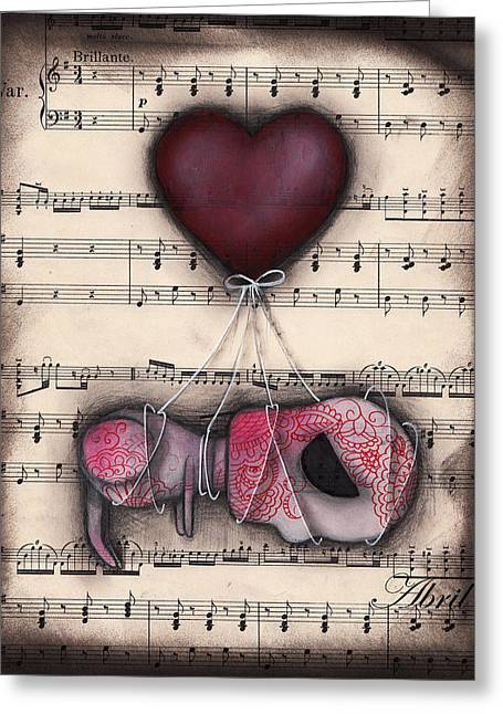 Depressed Art Greeting Cards - Take me away- Driftin  Greeting Card by  Abril Andrade Griffith