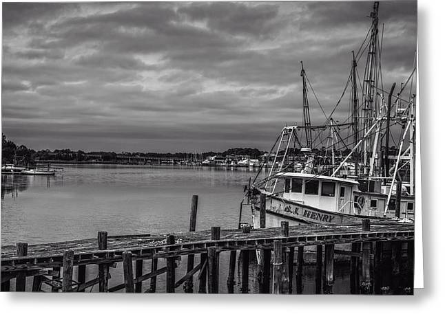 Ocean Black And White Prints Greeting Cards - Take me Fishing Greeting Card by Jon Glaser