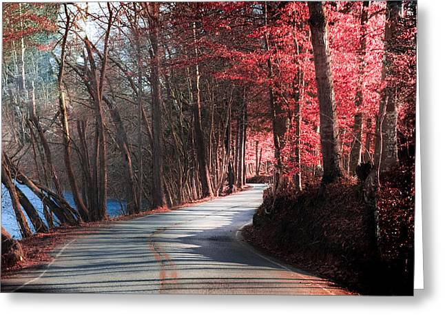 Tennessee River Greeting Cards - Take Me Home Country Roads Greeting Card by Karen Wiles