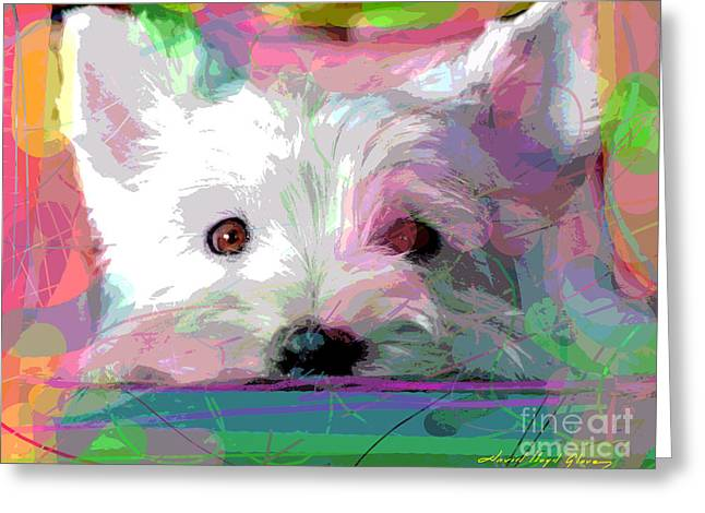 Westie Greeting Cards - Take me Home Greeting Card by David Lloyd Glover