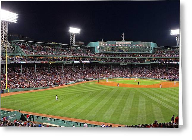 Press Box Greeting Cards - Take Me Out To The Ballgame Greeting Card by Juergen Roth