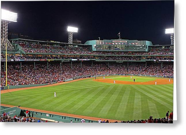 Fenway Park Greeting Cards - Take Me Out To The Ballgame Greeting Card by Juergen Roth