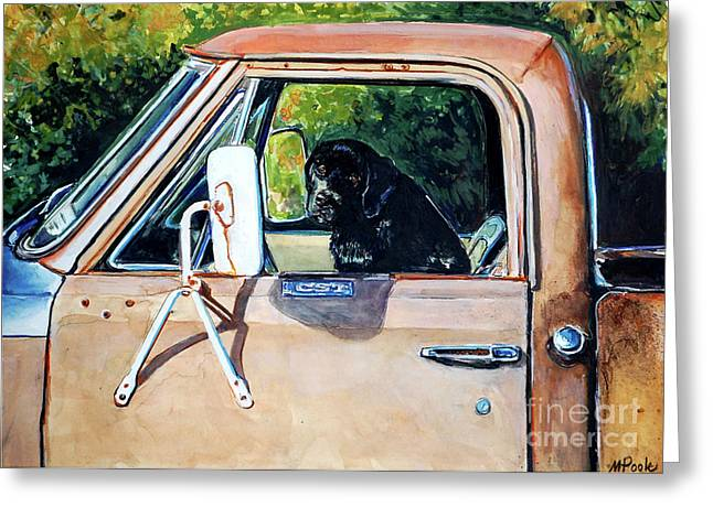 Black Lab Puppy Greeting Cards - Take Me With You Greeting Card by Molly Poole