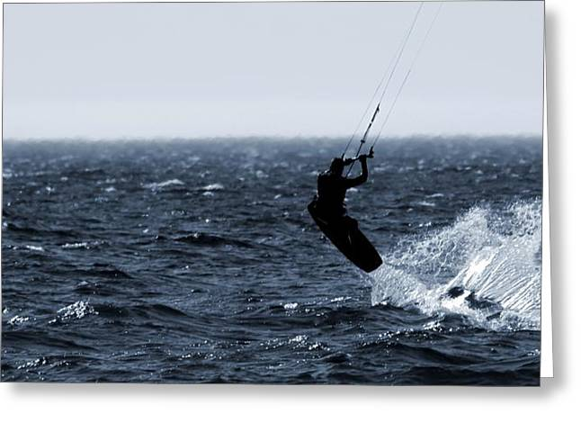 Kite Surfing Greeting Cards - Take Off Greeting Card by Dan Sproul