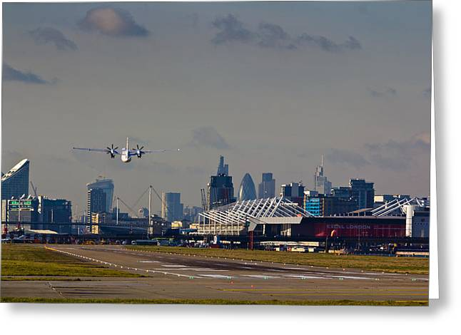 Traffic Control Greeting Cards - Take off from London Greeting Card by David Pyatt