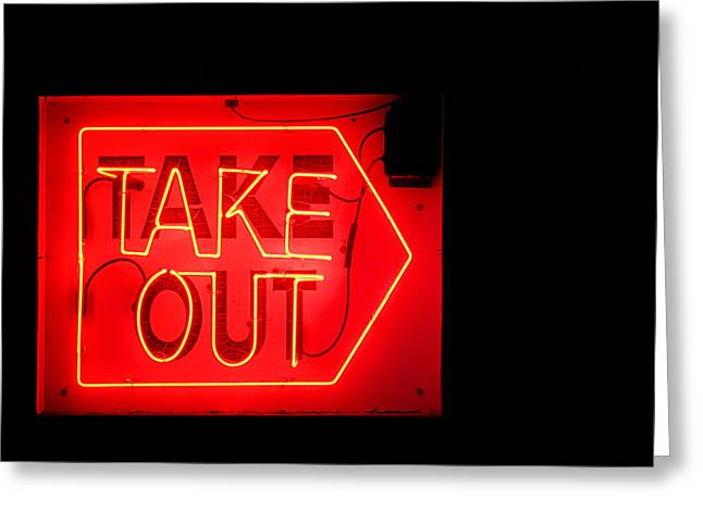 Greg Simmons Greeting Cards - Take Out Greeting Card by Greg Simmons