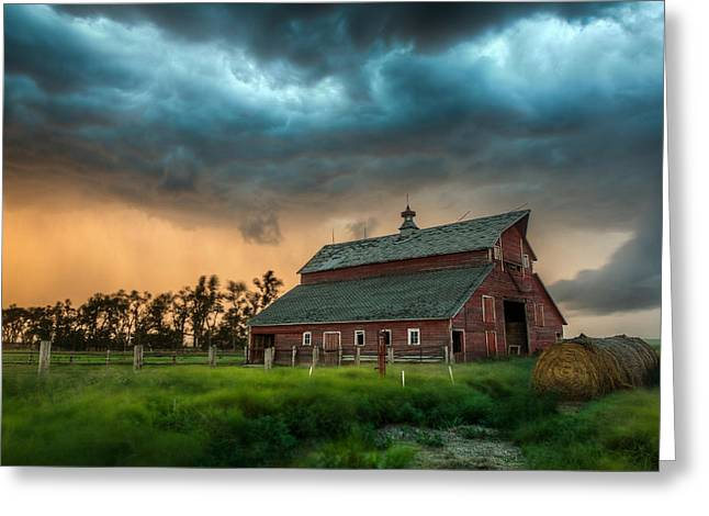 High Country Greeting Cards - Take Shelter Greeting Card by Aaron J Groen