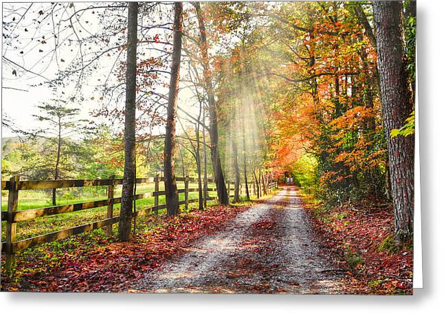 Tennessee Barn Greeting Cards - Take the Back Roads Greeting Card by Debra and Dave Vanderlaan