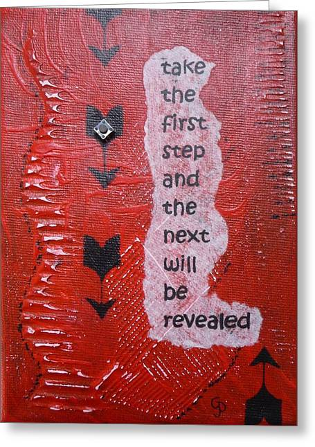 Take The First Step Greeting Card by Gillian Pearce