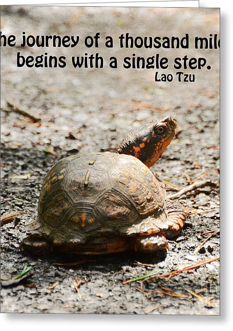 Motivational Poster Greeting Cards - Take The First Step  Greeting Card by Kerri Farley