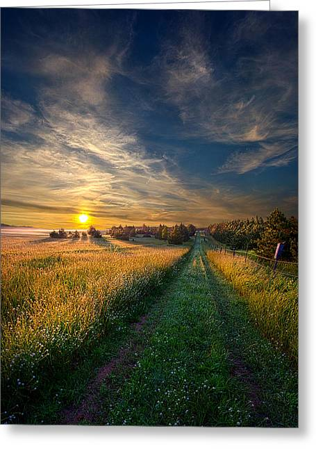 Geographic Greeting Cards - Take the Long Way Home Greeting Card by Phil Koch