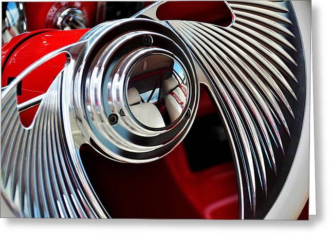 Ford Brown Print Greeting Cards - Take The Wheel Greeting Card by Joanne Brown