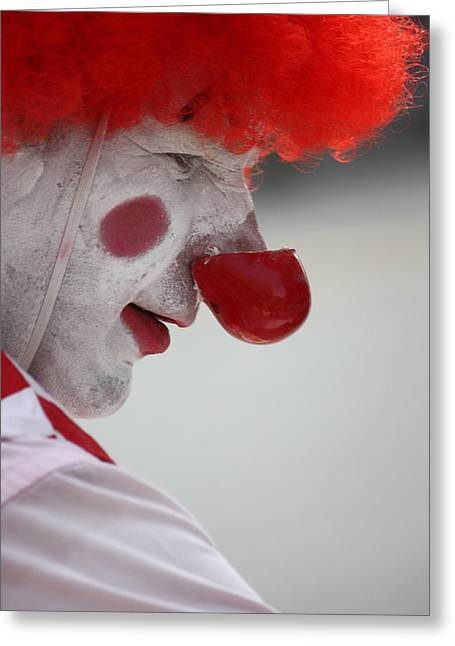 Clown Black And White. Greeting Cards - Take This Balloon  Greeting Card by Jerry Cordeiro