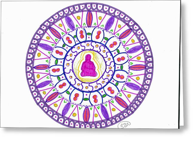 Mandala Greeting Cards - Take time to contemplate and deliberate Greeting Card by Signe  Beatrice