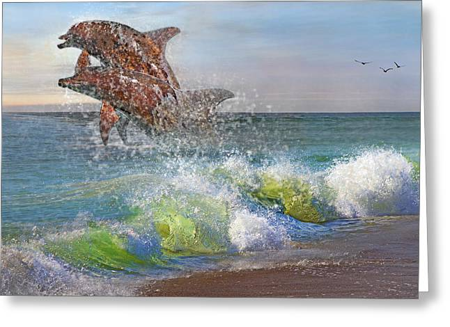 Dolphin Greeting Cards - Taken for Granted Greeting Card by Betsy C  Knapp