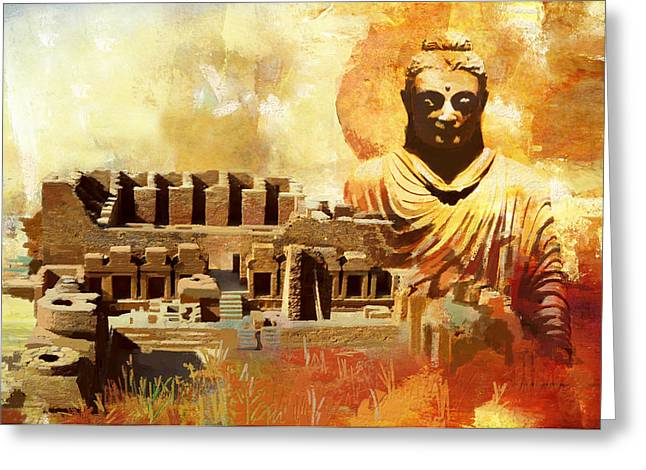 Takhat Bahi UNESCO World Heritage Site Greeting Card by Catf