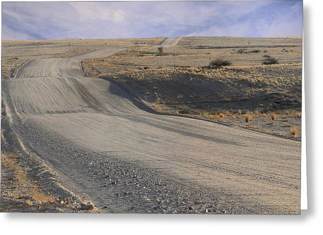 Gravel Road Greeting Cards - Takin that ride to nowhere Greeting Card by A Rey