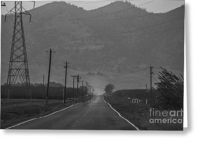 Old Roadway Greeting Cards - Takin The Back Road Greeting Card by Mitch Shindelbower